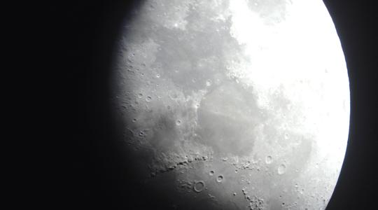 So close, yet so mysterious: A picture of the moon taken by a student.