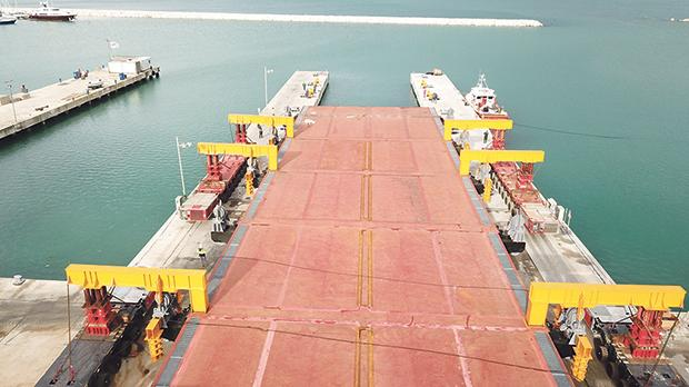 Palumbo's new €6 million 50,000 square metre ship platform in Ancona.