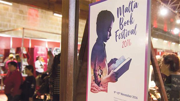The artwork for last year's Malta Book Festival by Julinu.