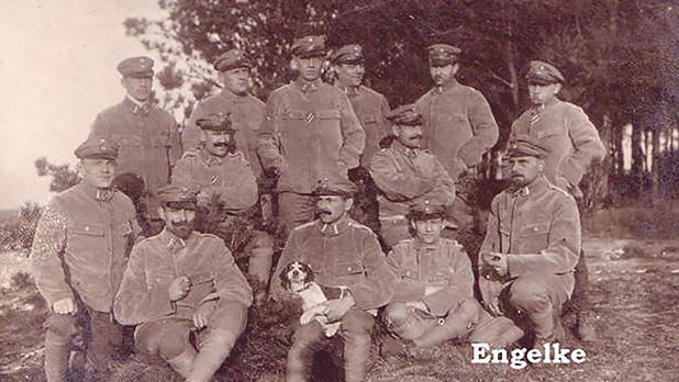 LZ 104 (L 59) crew in Yamboli, Bulgaria taken in November 1917.