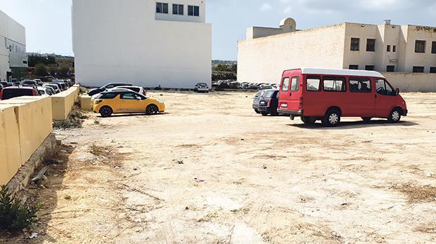 A temporary car park will open next week.