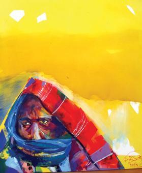 A piece by Najla Shawkat Fitouri.