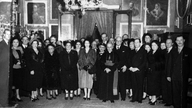 In 1949, the then Princess Elizabeth with Prince Philip, Duke of Edinburgh, met Maltese nobility at a function in Villa Apap Bologna in Attard. The building is now the official residence of the US Ambassador to Malta. On the far left is Prince Philip, while left of the Princess at the centre of the photo is Mary Evelyn Chapelle, Countess Ciantar Paleologo. Mgr. Michael Gonzi is right of the Princess. The couple met Maltese noble families again 18 years later, this time at the Palace in Valletta on their first state visit to Malta post-independence. Photo: Carlo Lamanna Chapell