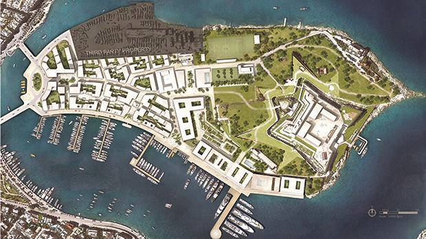 Plans for the Manoel Island mega-development.