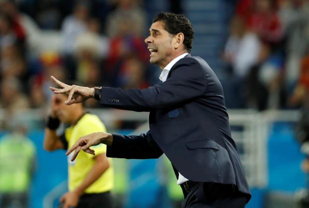 Fernando Hierro was relieved to come away with a point against Morocco.