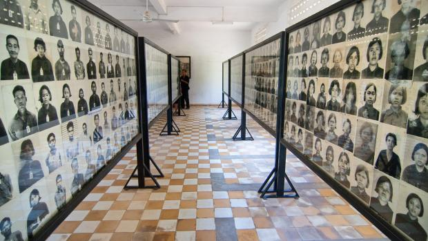 The S-21 torture chamber in Phnom Penh. The Khmer Rouge wiped out an entire generation.