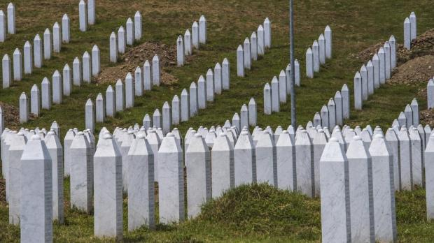 Gravestones of victims of the Srebrenica massacre. Photo: Shutterstock
