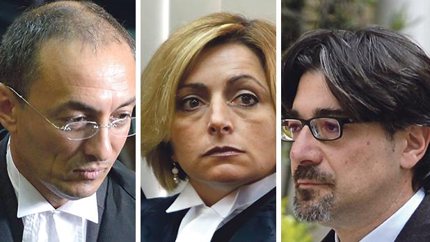 Magistrates Francesco Depasquale (left), Joanne Vella Cuschieri and Aaron Bugeja are expected to be promoted judges soon.