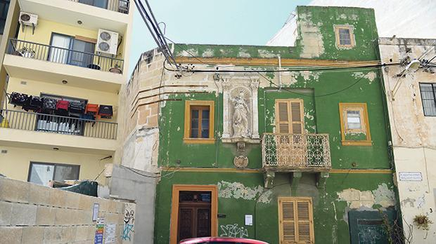 The 19th-century house in St Agatha Street, Sliema.