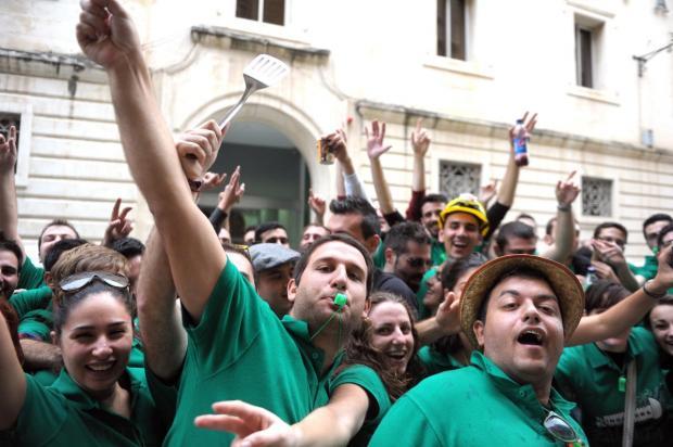 New graduates celebrate in Valletta on December 9. Photo: Jason Borg
