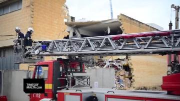 Warehouse roof collapses in Mrieħel | Video: Mark Zammit Cordina