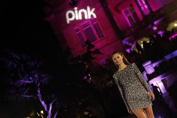 A model presents a Rebelli creation during the sixth edition of the Pink Fashion Show at Villa Rosa in St Julian's on May 26. Photo: Darrin Zammit Lupi