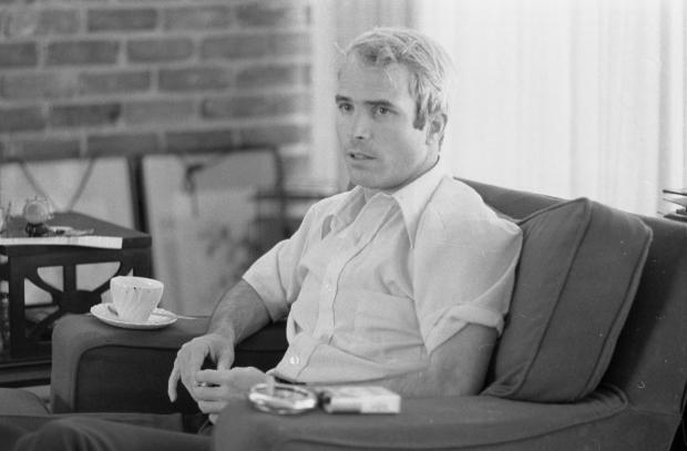 Lt. Comdr. John S. McCain is interviewed after the Vietnam War. Photo: Library of Congress