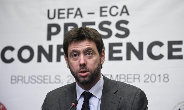Andrea Agnelli, chairman of the European Clubs Association (ECA).