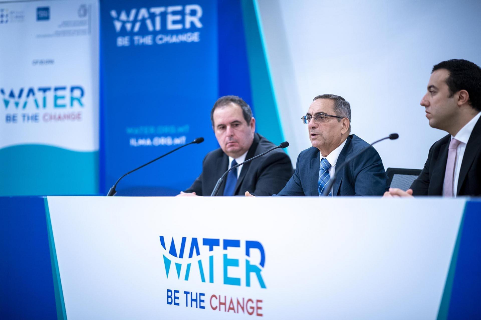 Water agency CEO Manuel Sapiano, minister Joe Mizzi and parliamentary secretary Clint Camilleri. Photo: DOI/Jason Borg