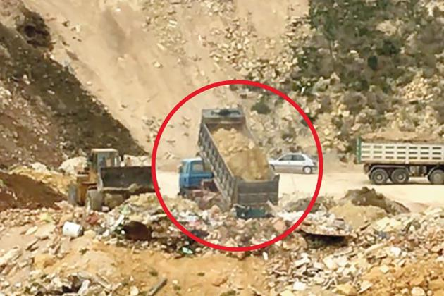 Watch: Illegal quarry operators ignore orders to stop
