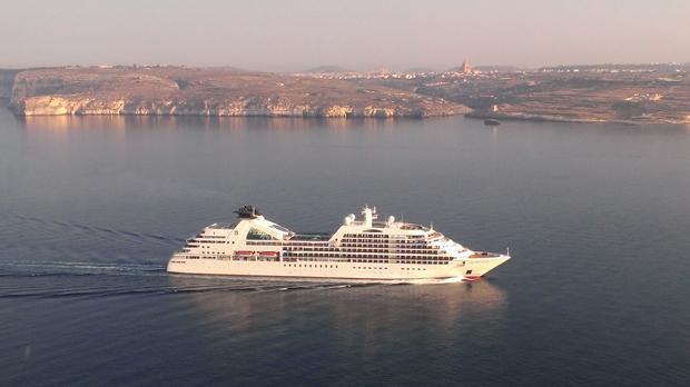 Cruiseliner at Gozo. Photo: Mark Said