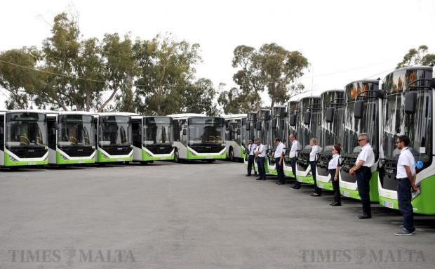 33 new buses join the fleet of buses serving the Maltese Islands on June 24. Photo: Chris Sant Fournier