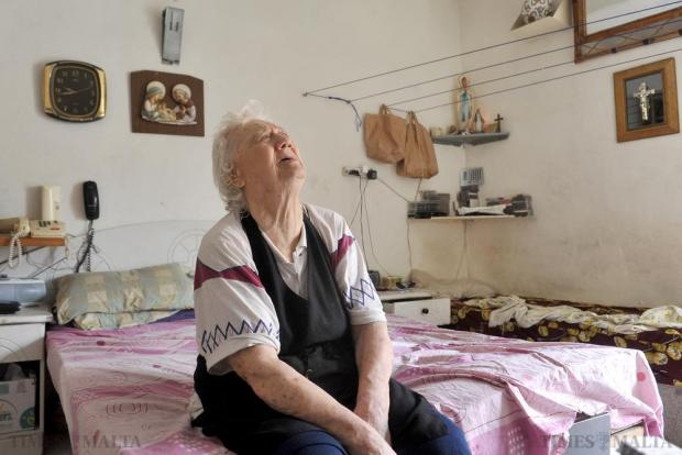 Mary Rose Zammit who suffers from blindness at her home in St Julian's. Photo: Chris Sant Fournier