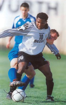 Nigerian forward Ndubisi Chukunyere enjoyed a successful career with Hibernians.