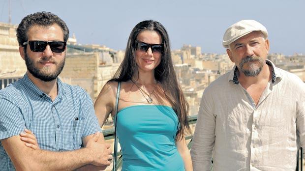 From left: Mansour Forouzesh, Ellen Slusarchi and Igor Parfenov. Photo: Chris Sant Fournier