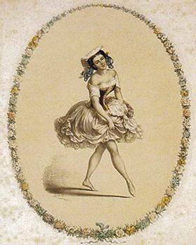 Sofia Fuoco dancing a tarantella.
