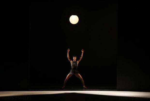 "A dancer of the Kibbutz Contemporary Dance Company of Israel performs in ""If At All"", choreographed and designed by Rami Be'er, during the Malta International Arts Festival at Argotti Gardens in Floriana on July 11. Photo: Darrin Zammit Lupi"