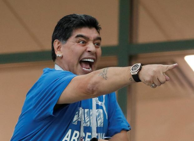 Diego Armando Maradona feels England's win was a monumental robbery.