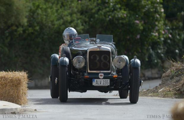 A car participating in the Mdina Grand Prix Classic Car event negotiates the challenging circuit outside Mdina's fortified walls on October 10. Photo: Matthew Mirabelli