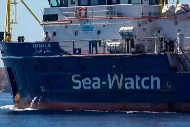 Sea-Watch migrant rescue boat in Italy port stand-off