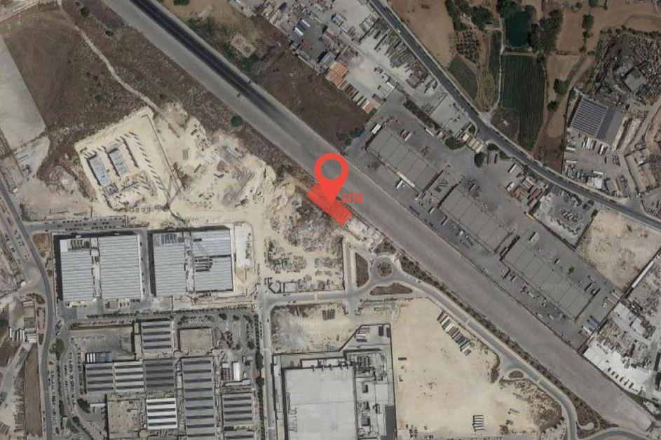 A map of the Hal Far industrial site, showing the location of the building.