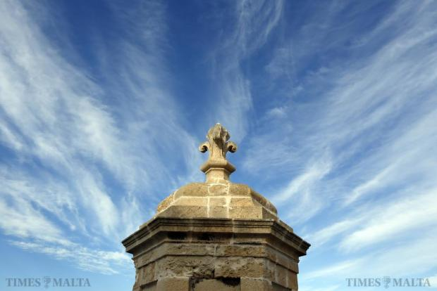 A lookout post on the bastions of Fort Saint Angelo in Vittoriosa is seen on October 11. Photo: Darrin Zammit Lupi