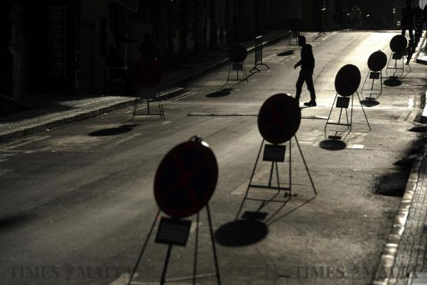 To the chagrin of Valletta residents, streets across the capital are cleared of vehicles on January 24, to make way for events related to Malta's presidency of the European Council. Photo: Matthew Mirabelli