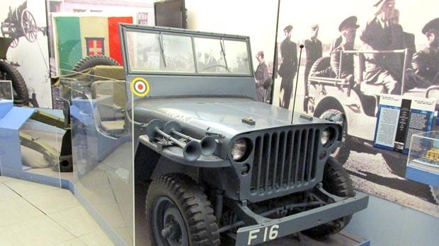 The Willys Jeep 'Husky' used by the US President during his visit, exhibited at the National War Museum in Valletta.