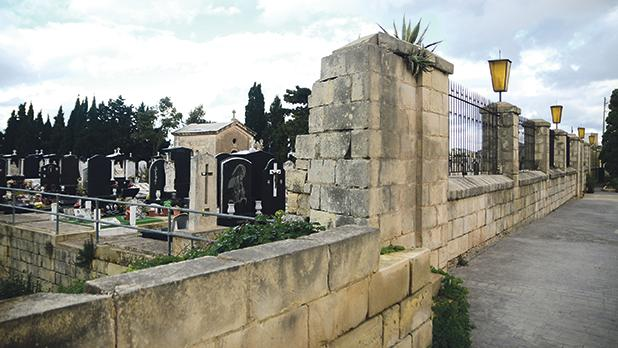 The Mosta cemetery where Johanna Boni was buried. Photo: Jonathan Borg