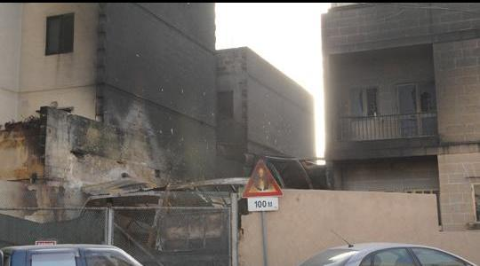 The scene of the blaze in 2009