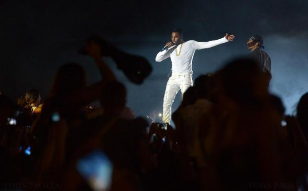 MTV headline act Jason Derulo performs during the Isle of MTV Concert on the Granaries in Floriana on July 7. Photo: Matthew Mirabelli
