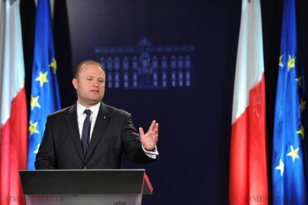 "Illegalities will not be tolerated,"" Prime Minister Joseph Muscat says during a news conference held following the Yes for spring hunting vote in the referendum on April 12. Photo: Jason Borg"