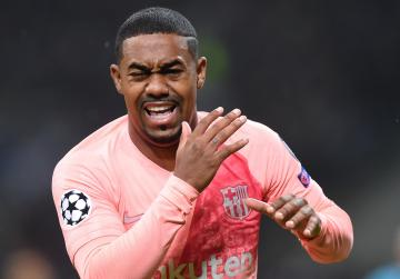 Malcom scored his first goal for Barcelona in the Champions League against Inter.