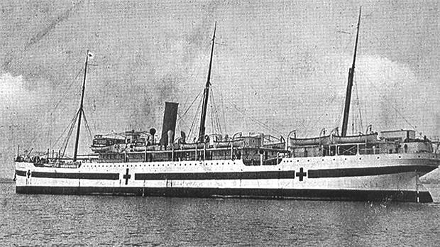 The hospital-ship Goorkha.