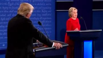 Clinton, Trump clash over race, the economy and tax in first debate