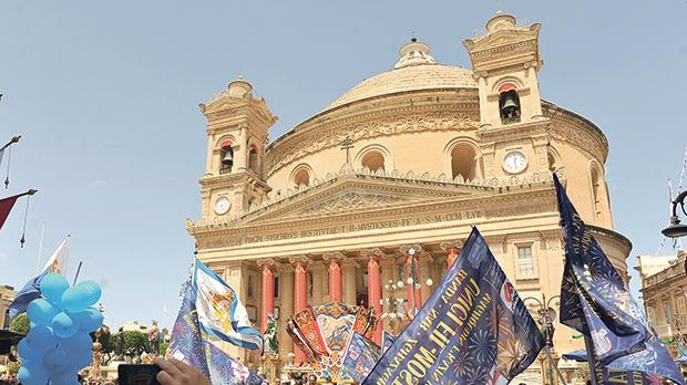 This is the first year that the Mosta Rotunda had celebrated the feast of The Assumption of Our Lady as a Minor Basilica. Photo: Chris Sant Fournier