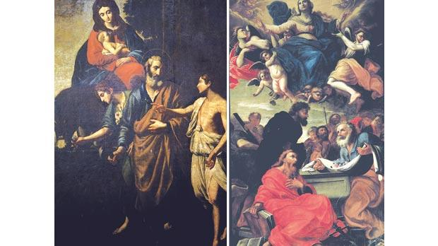 The altarpiece attributed to Stefano Erardi in the chapel of St Joseph at the church and the Assumption of the Virgin, one of the church's most significant 17th-century masterpieces.