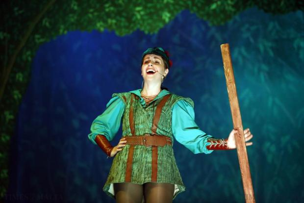 "Actor Maxine Aquilina plays the title role in FM Production's pantomime ""Robin Hood and the Babes in the Woods"" at the Manoel Theatre in Valletta on December 21. Photo: Darrin Zammit Lupi"