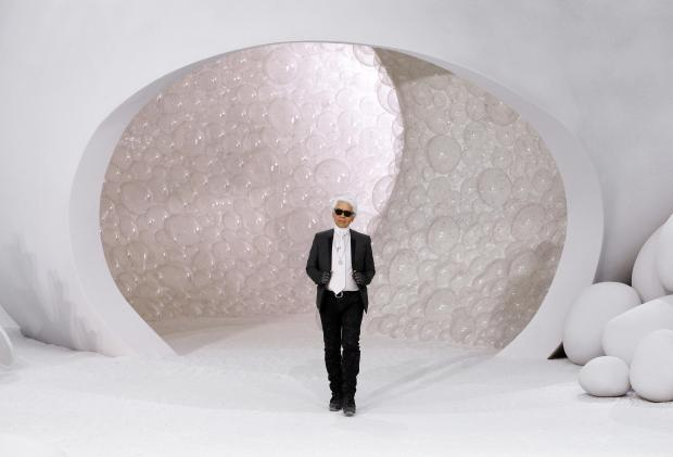 Lagerfeld at Chanel's Spring/Summer 2012 launch back in October 2011. Photo: AFP