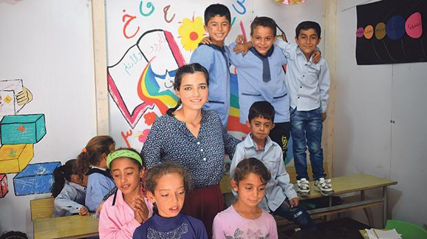 Despite not knowing of a world without war, Syrian children turn up to class brimming with energy.