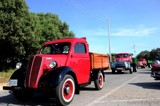 On the road… Malta classic commercial vehicles take part in a road run on April 26. Photo: Jason Borg