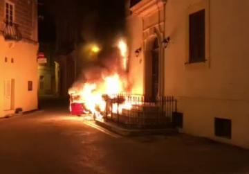 Watch: Car goes up in flames, family evacuated