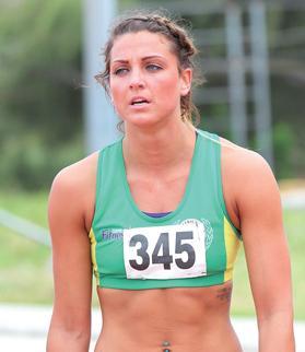 Charlotte Wingfield... 100m record. Photo:Wally Galea
