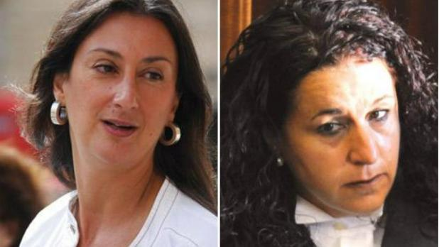 Daphne Caruana Galizia and Magistrate Scerri Herrera.